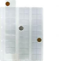 "Лист для хранения монет на 54 ячейки ""скользящий"". Стандарт ""Optima"". 10 штук."