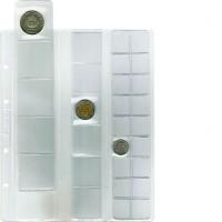 """Лист для хранения монет на 29 ячеек """"скользящий"""". Стандарт """"Optima"""". 10 штук"""