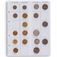 Лист OPTIMA на 24 монеты до 34 мм Leuchtturm, 5 штук
