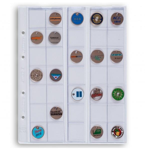 Лист OPTIMA на 35 монет до 27 мм, Leuchtturm, 5 штук