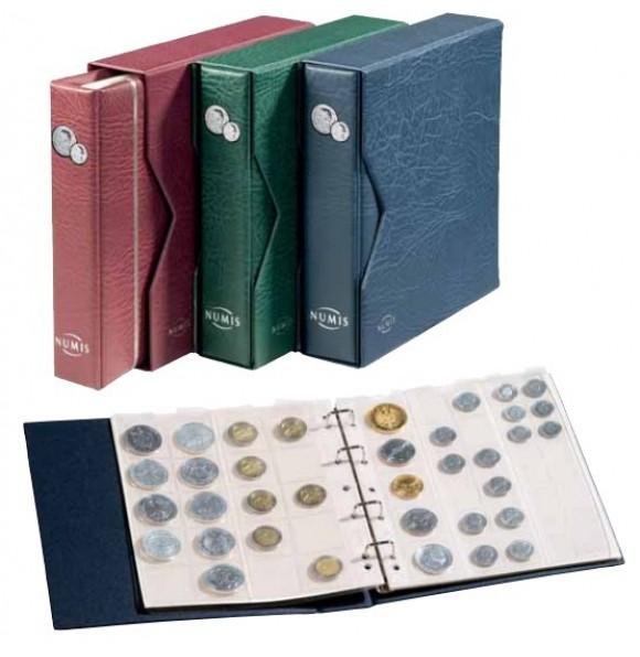 Альбом NUMIS, включая слипкейс и 5 листов для монет, бордовый