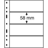 Лист для банкнот OPTIMA, 4 ячейки, прозрачный(10 штук), Leuchtturm