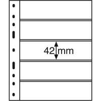 Лист для банкнот OPTIMA, 5 ячеек, прозрачный(10 штук), Leuchtturm