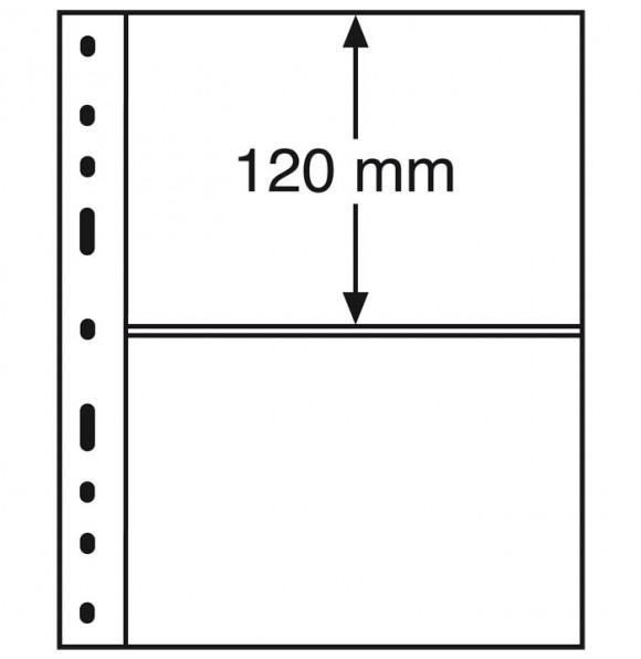 Лист для банкнот OPTIMA, 2 ячейки, прозрачный(10 штук), Leuchtturm