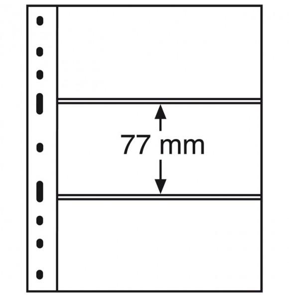 Лист для банкнот OPTIMA, 3 ячейки, прозрачный(10 штук), Leuchtturm